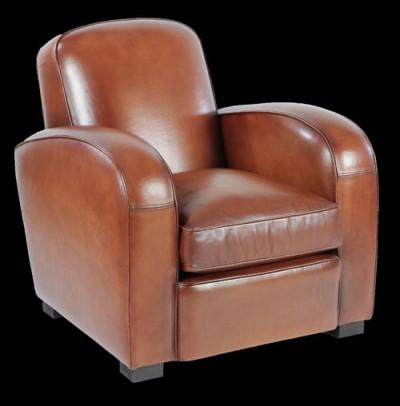 fauteuil-club-longfield-cuir-basane-vue-de-face