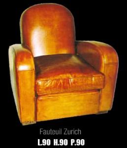 Fauteuil club Zurich