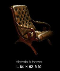 Victoria à bosse en cuir de vachette marron patiné bois acajou massif teinté acajou