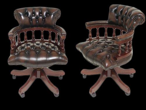 fauteuil de bureau anglais captain longfield 1880. Black Bedroom Furniture Sets. Home Design Ideas