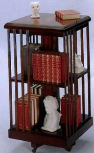 bibliotheque-tournante-anglaise-en-bois-d-acajou