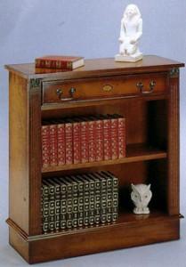 Bibus bronze Anglais 1 tiroir en bois de merisier