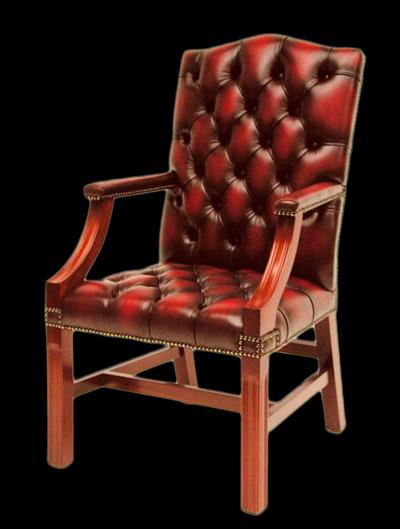 Fauteuil De Bureau Anglais Gainsborough Chair | Longfield 1880
