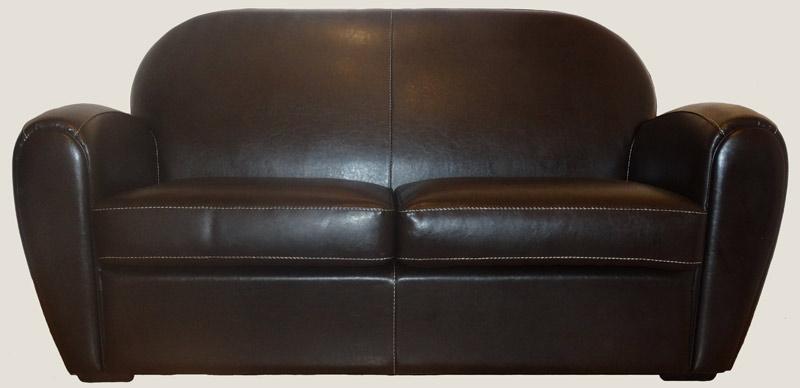 canape club 2 places en cuir de by cast coloris chocolat longfield 1880. Black Bedroom Furniture Sets. Home Design Ideas