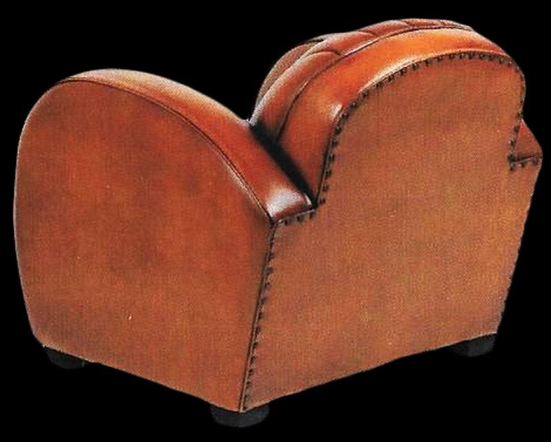 fauteuil club dallas en cuir de basane pleine fleur vue de dos longfield 1880. Black Bedroom Furniture Sets. Home Design Ideas