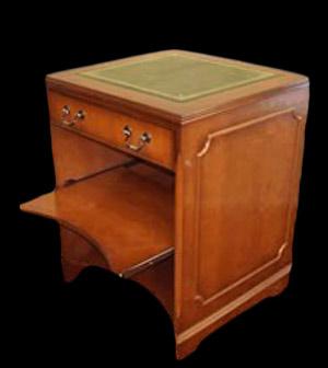 Petit bureau informatique en bois de merisier longfield 1880 for Petit bureau informatique
