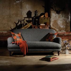 Canapé Braemar en tissus 100 % laine Tweed coloris balsat herringbone