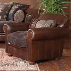 fauteuil-anglais-churchill-en-cuir-et-tissu