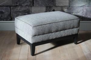 Pouf Anglais Highgrove en tissus 100 % laine