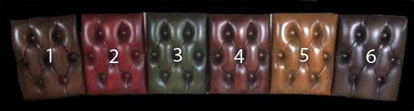 Échantillons cuir de vachette patiné