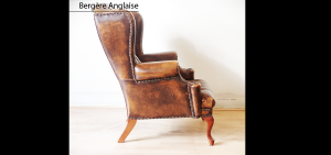 bergere anglaise tout capitonn marron patin longfield 1880. Black Bedroom Furniture Sets. Home Design Ideas