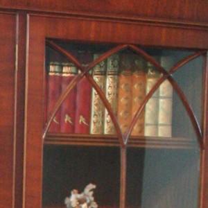 petite bibliotheque anglaise 3 portes vitrées