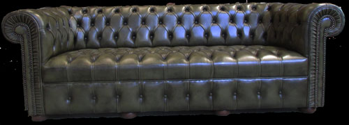 chesterfield vert bronze longfield 1880. Black Bedroom Furniture Sets. Home Design Ideas