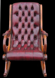 Fauteuil-Rocking-Chair-Victoria-Old-England-en-cuir-de-vachette-bordeaux-patine