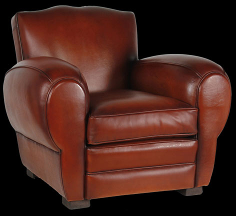 fauteuil club moustache en cuir de basane pleine fleur longfield 1880. Black Bedroom Furniture Sets. Home Design Ideas
