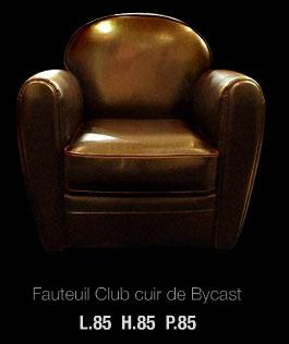 Fauteuil club en cuir de Bycast