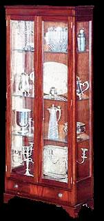 Argentier Anglais 2 portes 1 tiroir en bois d'acajou