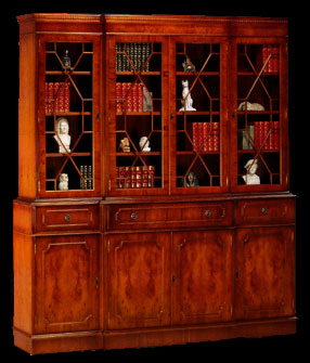 biblioth que 4 portes anglaise longfield 1880. Black Bedroom Furniture Sets. Home Design Ideas
