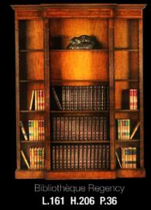 Bibliothèque Anglaise Regency ouverte en meriiser