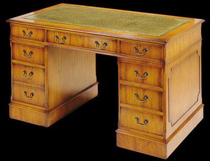 bureau caisson anglais en bois de merisier longfield 1880. Black Bedroom Furniture Sets. Home Design Ideas