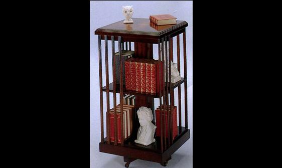 Bibliothèque tournante Anglaise en bois d'acajou