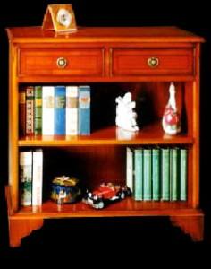 Bibus Anglais 2 tiroirs en bois de merisier