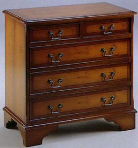 Commode Anglaise 3 + 2 tiroirs en bois de merisier