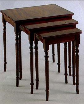 Table Gigogne Anglaise Regency en bois d'acajou