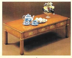 table basse marine en merisier