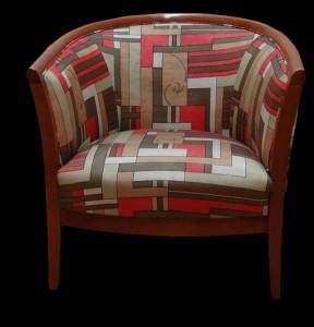 fauteuil Davis recouvert de tissu