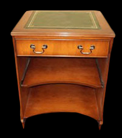 petit bureau informatique en bois de merisier longfield 1880. Black Bedroom Furniture Sets. Home Design Ideas