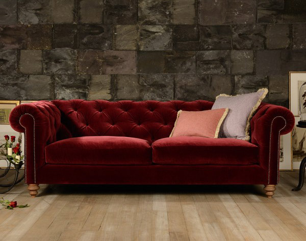 Canapé Chesterfield Coniston en velours