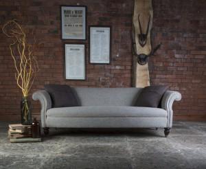 Canapé Chesterfield Bowmore 3 places en tissus