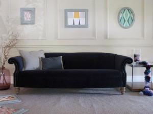 Canapé Chesterfield Brampton en tissus velours