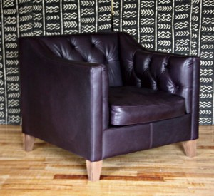 fauteuil Anglais Battersea en cuir