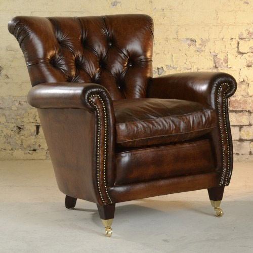fauteuil anglais coleridge en cuir de vachette longfield 1880. Black Bedroom Furniture Sets. Home Design Ideas
