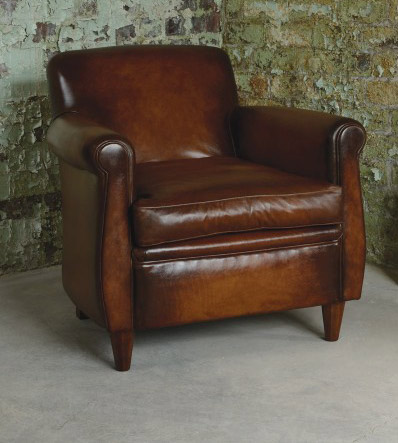fauteuil anglais wessex en cuir de vachette longfield 1880. Black Bedroom Furniture Sets. Home Design Ideas