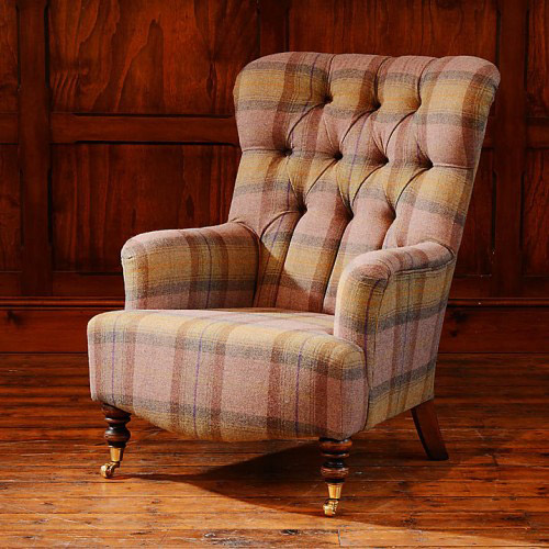 fauteuil anglais belgravia en tissus tweed 100 longfield 1880. Black Bedroom Furniture Sets. Home Design Ideas