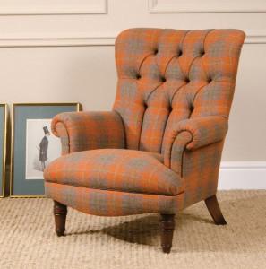 fauteuil Anglais Calvay en tissus