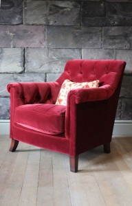 Fauteuil Anglais Tate en tissus