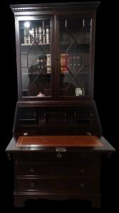 Retour de foire scriban anglais en acajou longfield 1880 - Meubles anglais paris ...