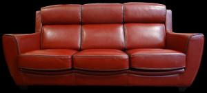 Canapé 3 places London en cuir de vachette Colorado coloris Lattone