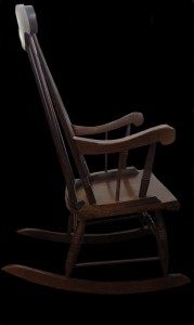 Rocking-chair vue de face