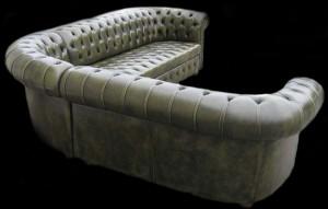 Canapé d'angle vue de dos