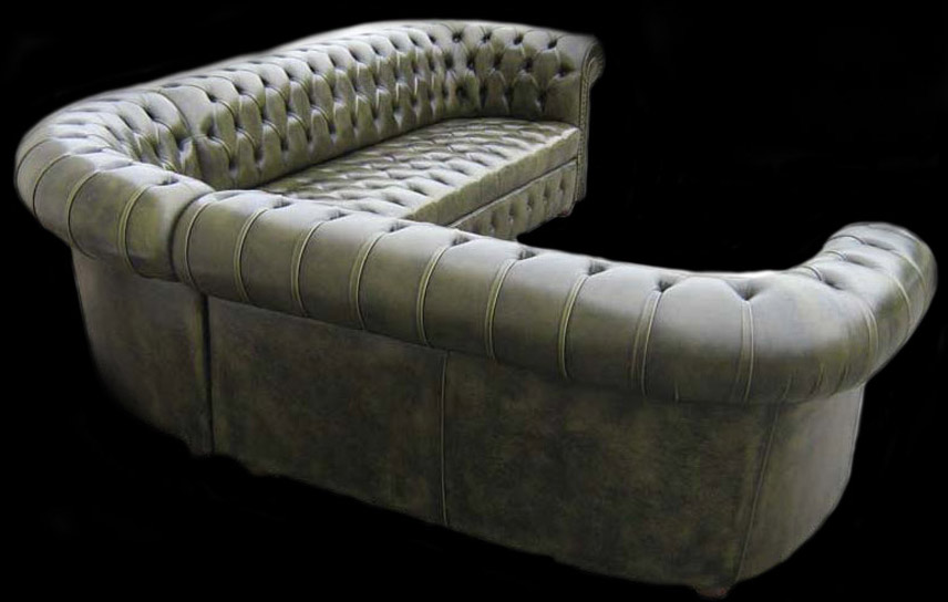 canap d 39 angle chesterfield cuir vachette longfield 1880. Black Bedroom Furniture Sets. Home Design Ideas